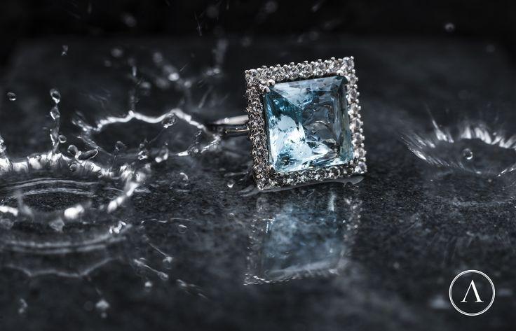 #ring #aquamarine #precious #stone #arsublime #diamond #finejewellery #italianartisanaluxury #lussoartigianaleitaliano #roma #gioiellitaliani #passion #princess #marble #rome #elegance
