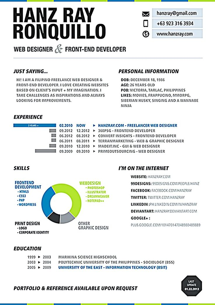 19 best Resumes images on Pinterest Nuu0027est jr, Web developer - developer resume template