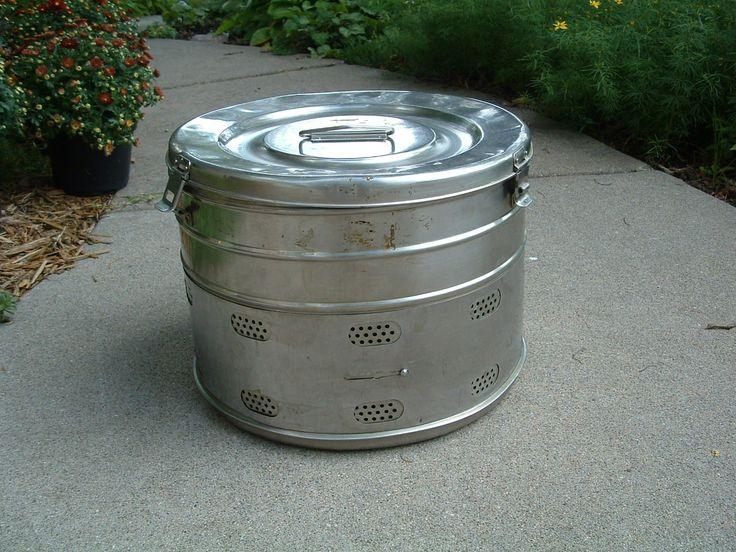 Sterilizer Large Drum ~ Vintage Antique Allen & Hanburys Sterilizer ~ Medical Object ~ Photo Prop ~ Home Decor ~ Metal Storage Container by SimplyAgain on Etsy