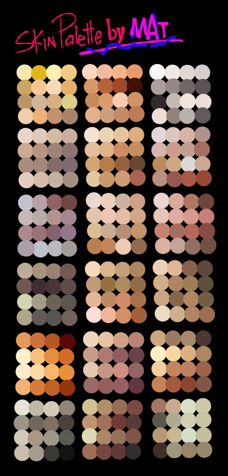 Skin Palette for MyPaint by MeryAlisonThompson.deviantart.com on @DeviantArt