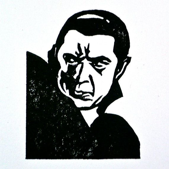 Made to order Dracula, Bela Lugosi, hand carved rubber stamp.  Love the vampires. by JackBear Stamps