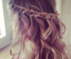 curls and braid- you could also do it on straight hair