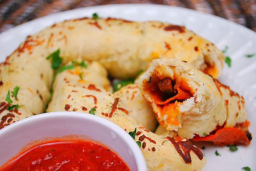 Pizza Stuffed Pretzels by ItsJoelen, via Flickr