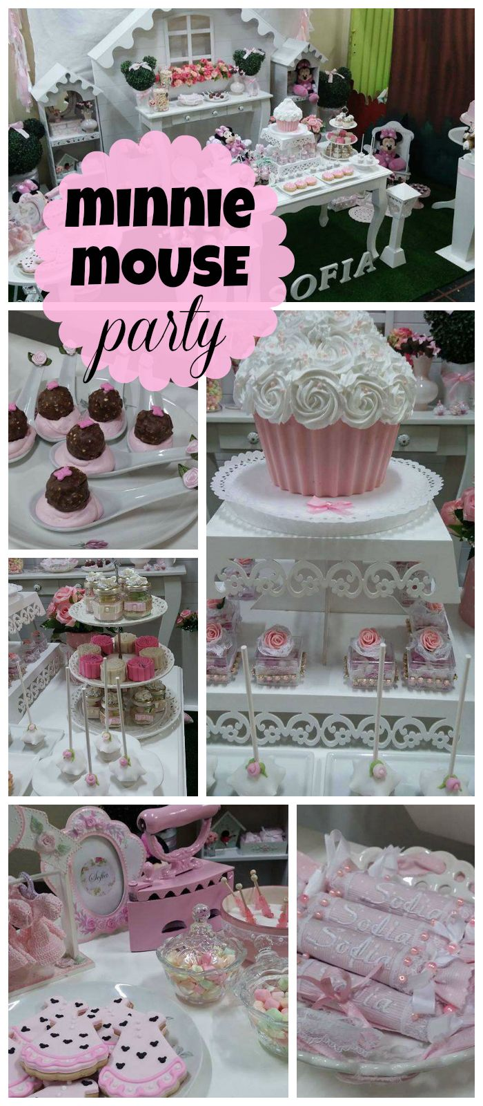 A Lovely Minnie Mouse Girl Birthday Party With Lots Of