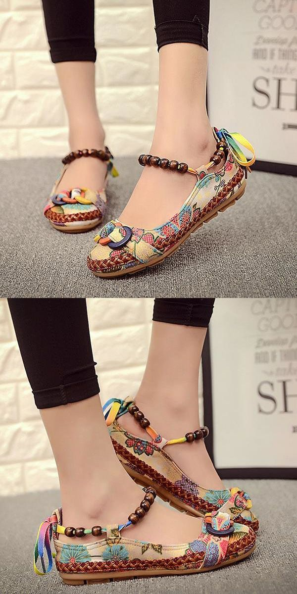 US$21.99 + Free shipping.US Size 5-11.Casual Flats, Colorful. Upper Material: Linen Cloth. A nice gift for the coming summer!
