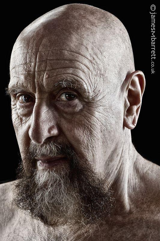Peter Viti, elderly male, old guy, beard, wrinckles, lines of life, powerful face, intense eyes, portrait