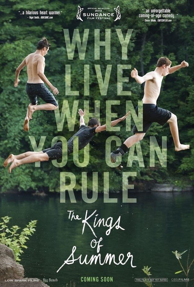 The Kings of Summer, comédia, fazia tempo que eu não via um filme de comédia, bacana.