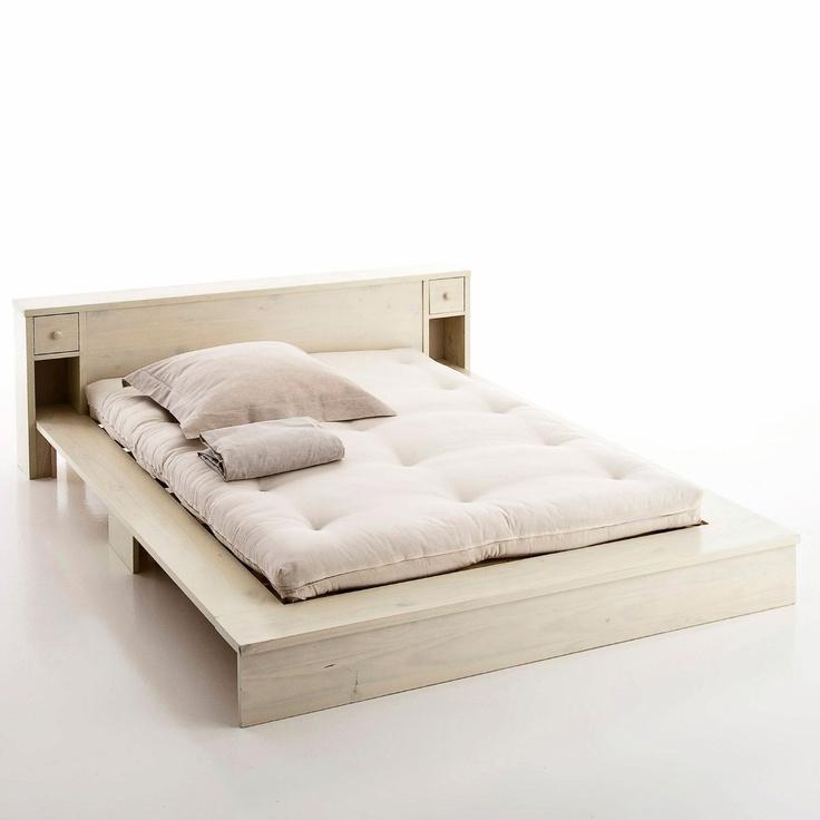 1000 id es sur le th me lits plateforme sur pinterest lits rangement int - Lit deux places blanc ...