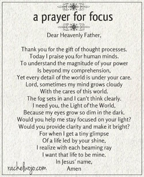Whether your struggle is due to stress, anxiety, or sleep deprivation, this prayer for focus will help!