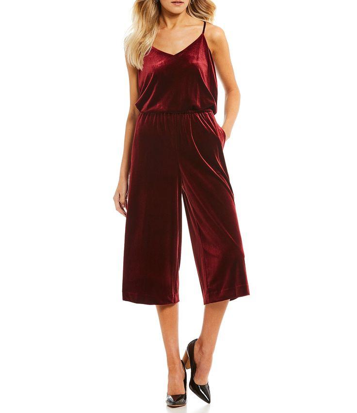 1. STATE Velvet Culotte Jumpsuit #Dillards