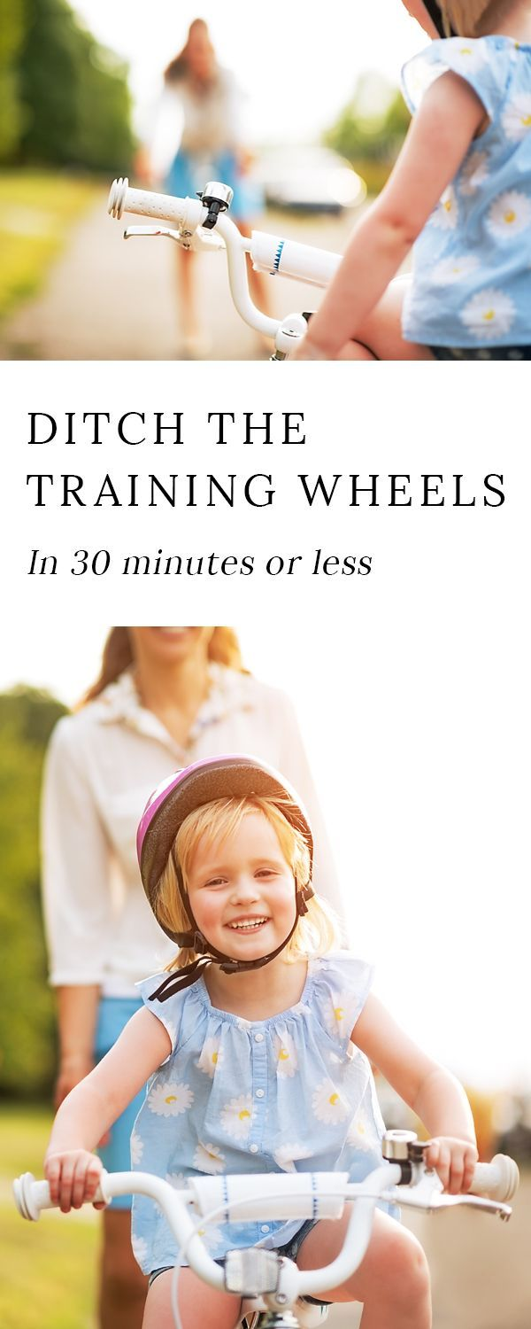 Ditch the training wheels in 30 minutes or less with proven tips to get your kid from scared to confident about riding a bike. via @https://www.pinterest.com/fireflymudpie/