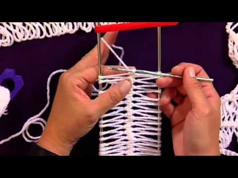 ▶ Learn to Make Hairpin Lace with Red Heart Yarns - YouTube