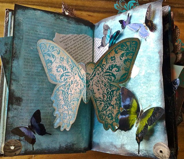 altered book - pages 5+6 | So as usual Flickr has uploaded m… | Flickr