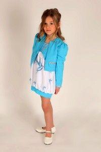 edles 2tlg. Kinderkleid - Ballonkleid mit Bolerojacke