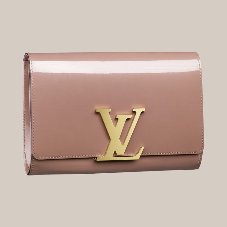 Louis Vuitton Rose Velours Patent Louise clutch bag
