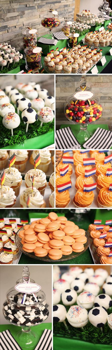 Fussball EM Candy Buffet | Zuckermonarchie Blog