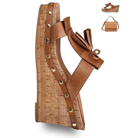 #brown #shoe, #wedge, #summer, #sandal, #trends #2016 #tamaris