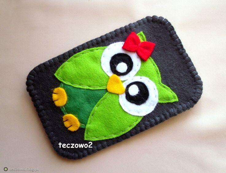 Cute little green owl.