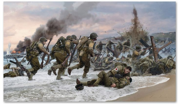 Assault on Omaha Beach by Simon Smith