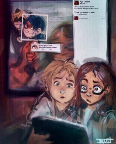 miraculous ladybug | Tumblr (lol I just saw one like this with Superman)