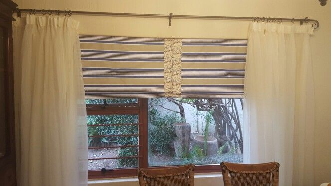 Roman blinds for the dining room