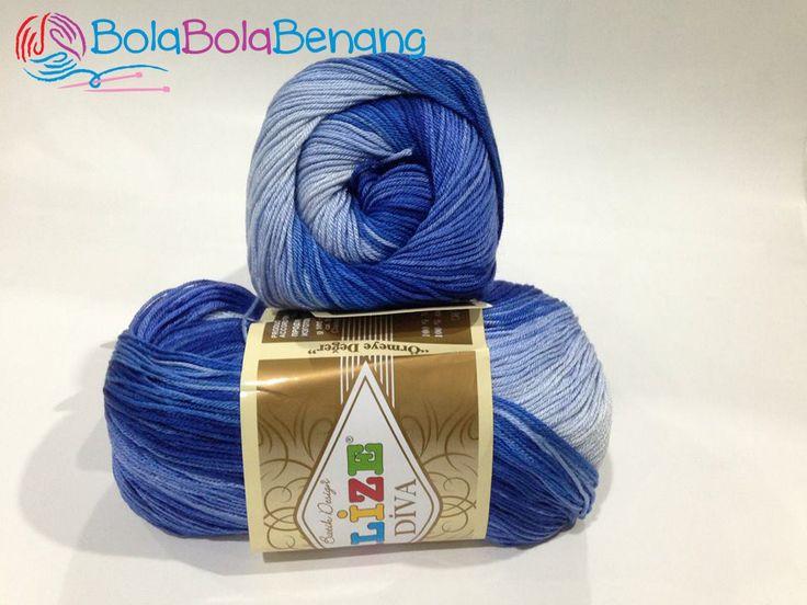 ALIZE DIVA BATIK 3282, Price: 90.000,-/gulung, Bahan: 100% Microfiber Akrilik, Berat/Panjang: 100gr/350m, Knitting Needles: 2,5mm – 3,5mm, Crochet Hook: 1mm - 3mm