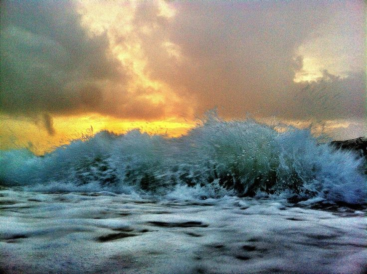 Dawn wave, passing storm.