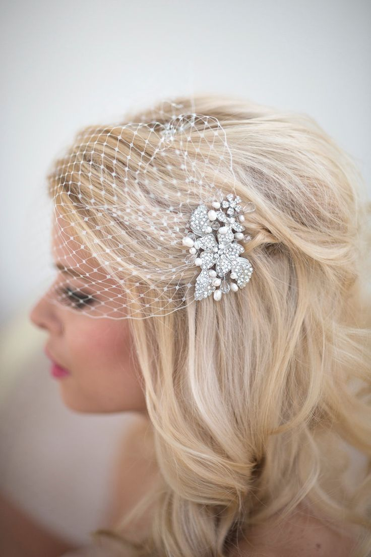 Birdcage Veil Wedding Veil Bridal Veil by PowderBlueBijoux on Etsy, $79.00