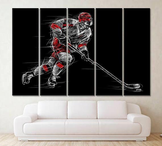 Hockey Hockey Decor Hockey Wall Art Hockey Art Print Giclee Etsymktgtool Hockey Hockeydecor Hockeywallart Hock Hockey Wall Art Hockey Decor Wall Art
