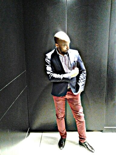 Navy short blazer #tailored #Carvela Concept store Maroon chinos # shirt by jCrew, #Sunglass hut,  #Tomford for my eyes #Aldo shoes