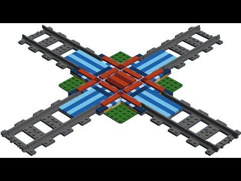 How to Build LEGO Train Rail Crossing MOC - YouTube