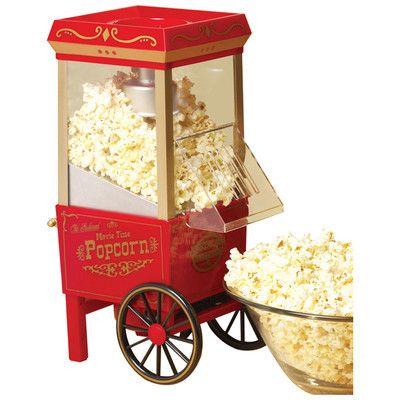 Nostalgia Electrics Old Fashioned 3.5 Oz. Movietime Hot Air Popcorn Maker