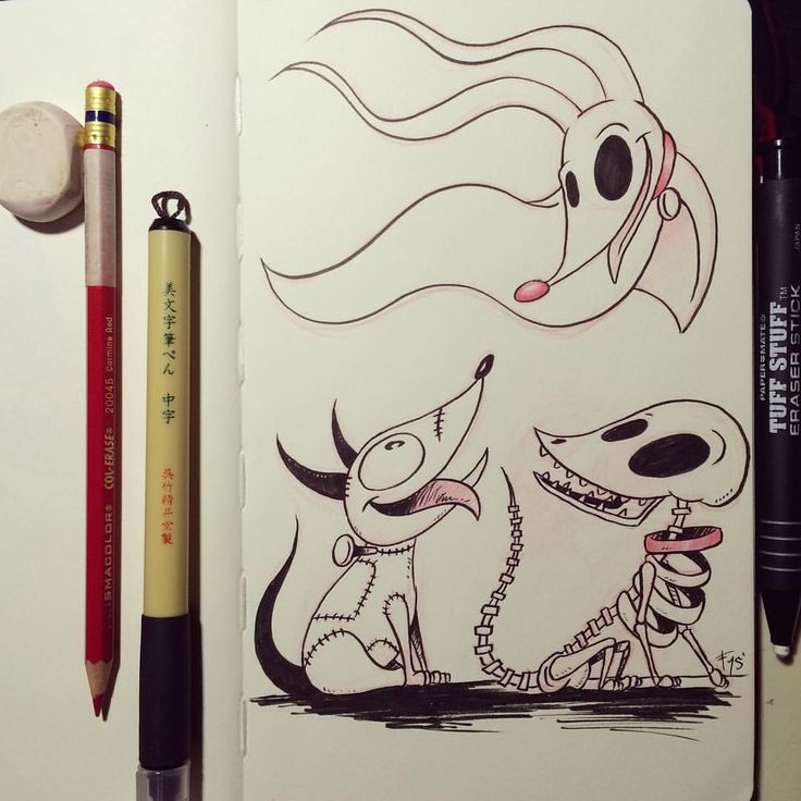 Day 28 of #inktober, Sparky, Zero, and Scraps. A Tim Burton request XD. This was fun to draw. Are these all the same dog?? I'm a huge Tim Burton fan and a lot of his original art is my...