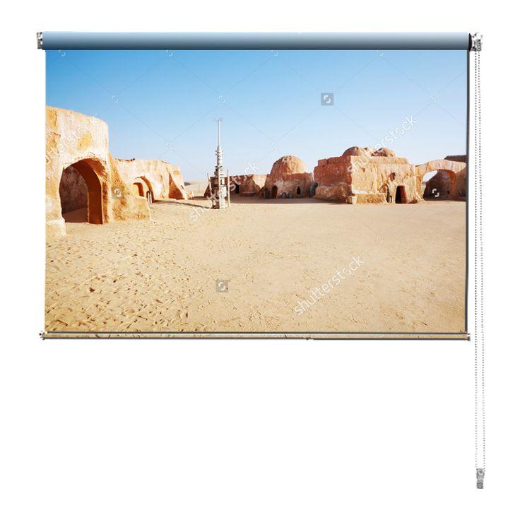 Rolgordijn Star Wars set | De rolgordijnen van YouPri zijn iets heel bijzonders! Maak keuze uit een verduisterend of een lichtdoorlatend rolgordijn. Inclusief ophangmechanisme voor wand of plafond! #rolgordijn #gordijn #lichtdoorlatend #verduisterend #goedkoop #voordelig #polyester #sciencefiction #scifi #sf #science #fiction #filmset #film #starwars #star #wars #planeet #woestijn #sahara #jongenskamer #jongen