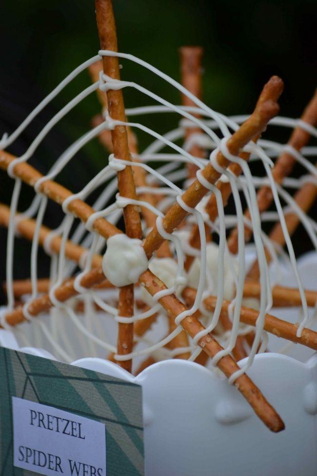 pretzel spider webs  [Boy Bash] Bug Birthday on a Budget! - Spaceships and Laser Beams