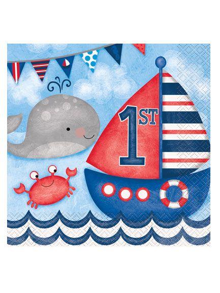 16 tovaglioli di carta marinaio  su VegaooParty, negozio di articoli per feste. Scopri il maggior catalogo di addobbi e decorazioni per feste del web,  sempre al miglior prezzo!