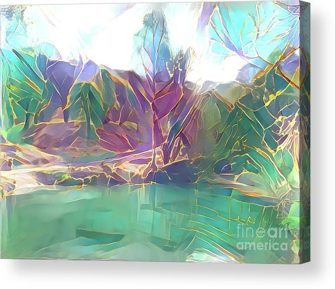 Lake Abstract Acrylic Print By Elisabeth Lucas In 2020 Abstract Acrylic Abstract Images Abstract