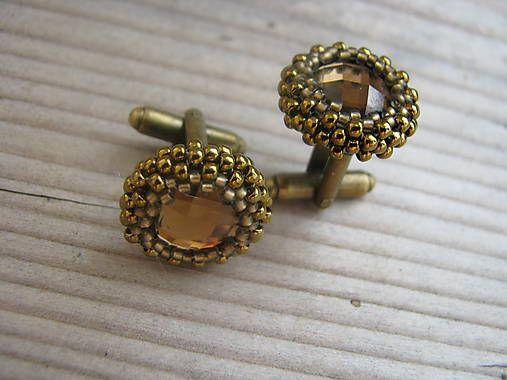 Ridgways / Manžetové gombíky - Brown/Antique Bronze