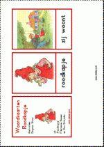 Woordkaarten Roodkapje - klein