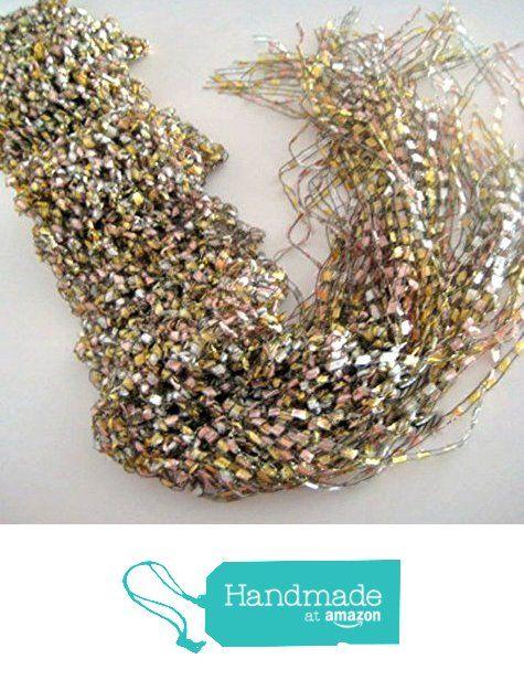 Crochet Scarf Wrap Pastel Metallic Shawl Skinny Scarf Handmade http://www.amazon.com/dp/B01EG5P8C4/ref=hnd_sw_r_pi_dp_L1joxb1QY5VRB #handmadeatamazon