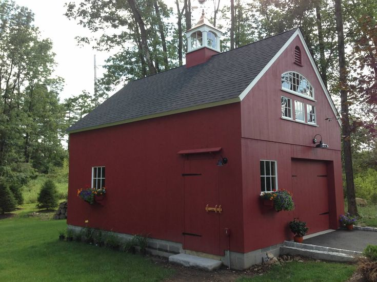 Our 18 39 x 24 39 1 1 2 story barn for Maine post and beam kits