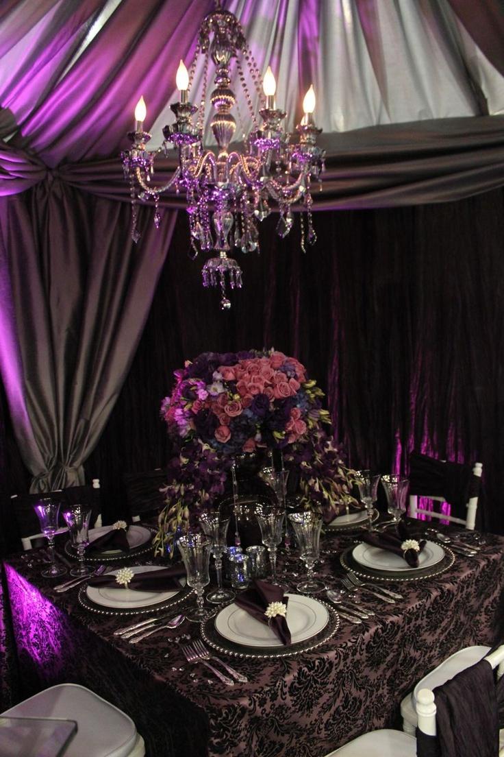 34 best tablescapes mardi gras images on pinterest tablescapes floralchandelier arubaitofo Choice Image