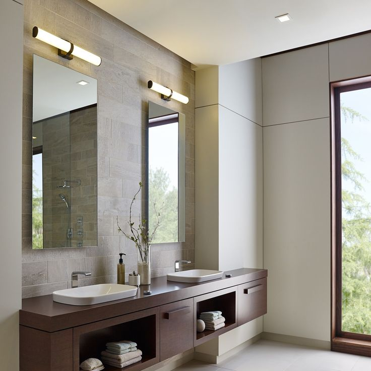 Refined yet stylish the lynk bath vanity light - Bathroom vanity mirror side lights ...