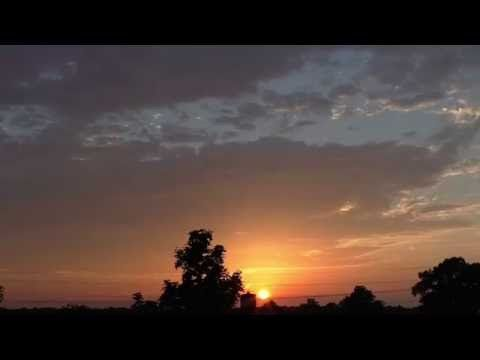 Super shining sunset after a very hot day (time lapse) - YouTube