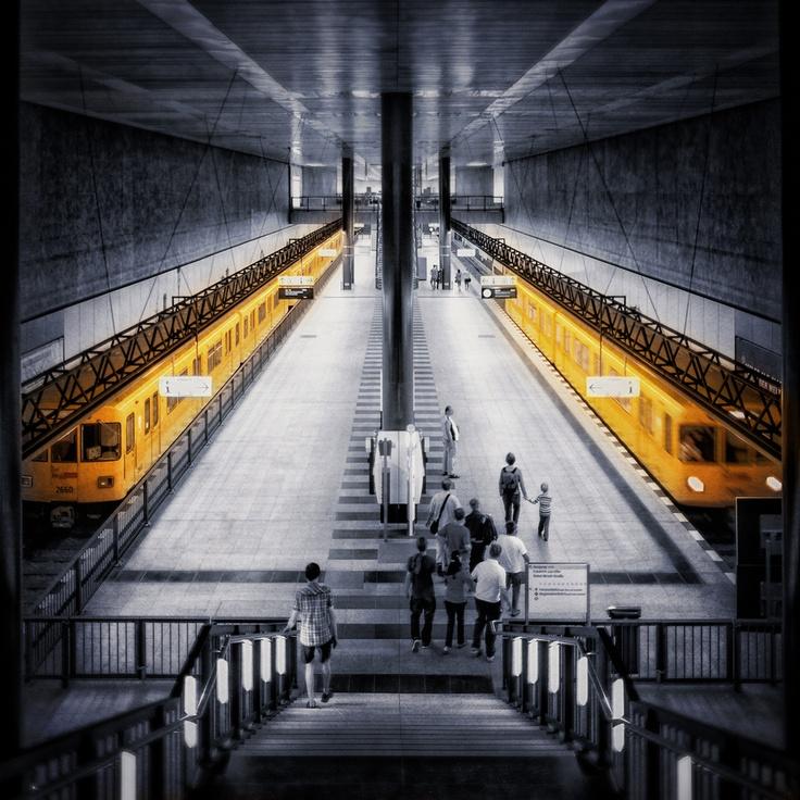 berlin subway by markus s., via 500px