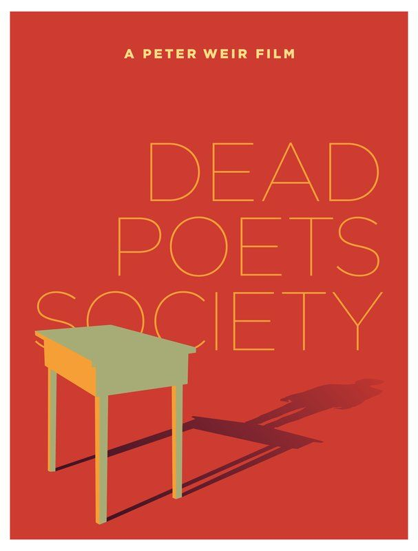 Dead Poets Society (1989) ~ Minimal Movie Poster by Pedro Vidotto #amusementphile