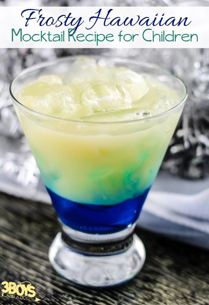 Frosty Hawaiian Mocktail Recipe for Kids - This yummy, non-alcoholic, Christmas cocktail is the perfect party drink for your children's next get-together!