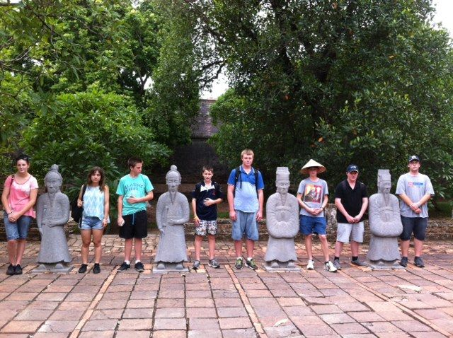 We think the emperors would have been very proud of these new guards! #Hue #VietnamSchoolTours