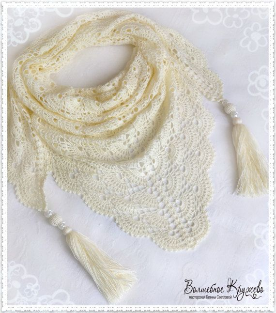 #Crochet_hand_made_mini-shawl #crochet_scarf_shawl #shawl_handmade #cotton_crochet_shawl #crochet_baktus #baktus #Spring_accessory #Autumn_accessory #Summer_accessory #A_gift_for_a_woman #White_bactus #Milky_bactus #Beautiful_bactus