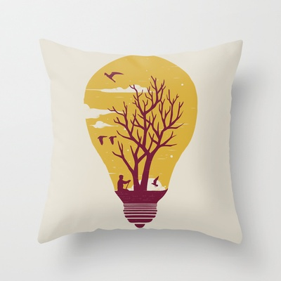 Unwind Throw Pillow by Norman Duenas - $20.00